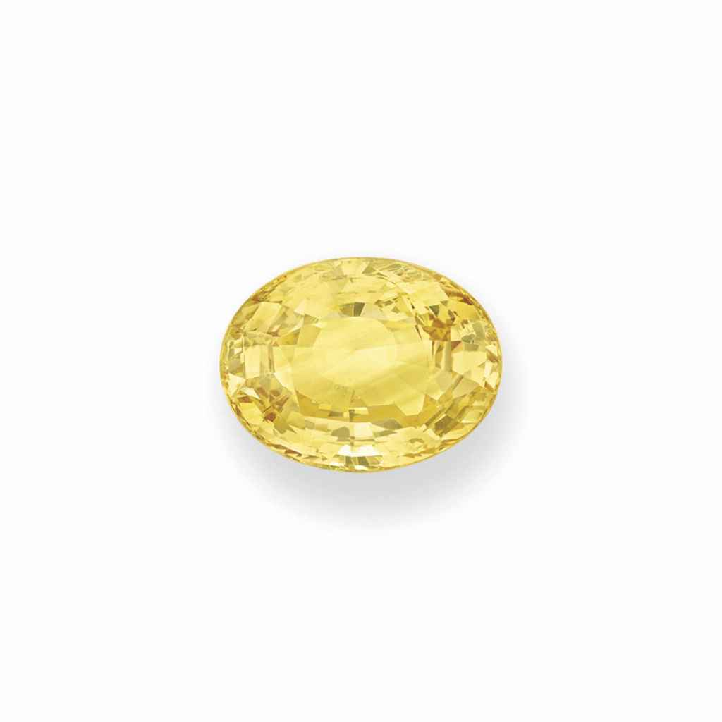 AN UNMOUNTED YELLOW SAPPHIRE