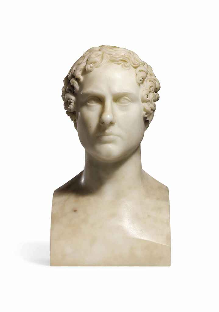 A CARVED MARBLE HERM BUST OF L