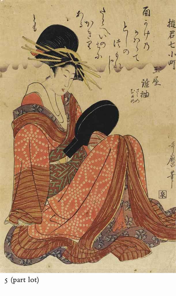 KITAGAWA UTAMARO (1753 - 1806) AND KITAGAWA UTAMARO II (died...