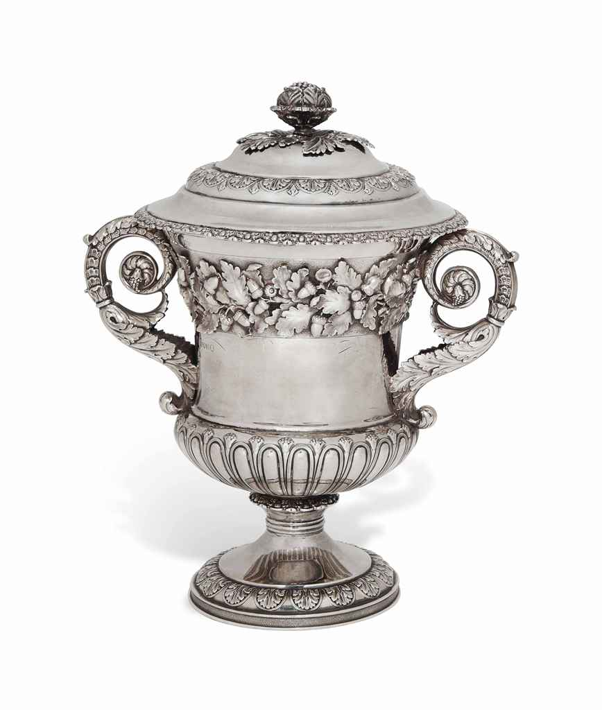 A GEORGE IV SILVER CUP AND COV