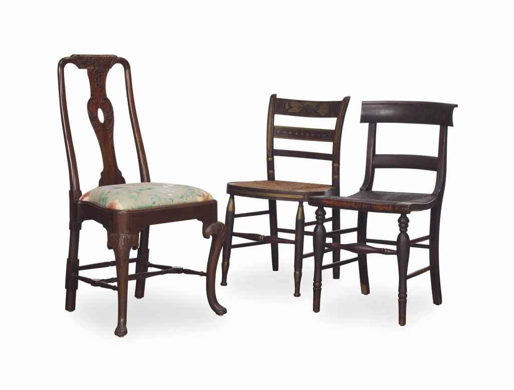 A GROUP OF TEN SIDE CHAIRS,