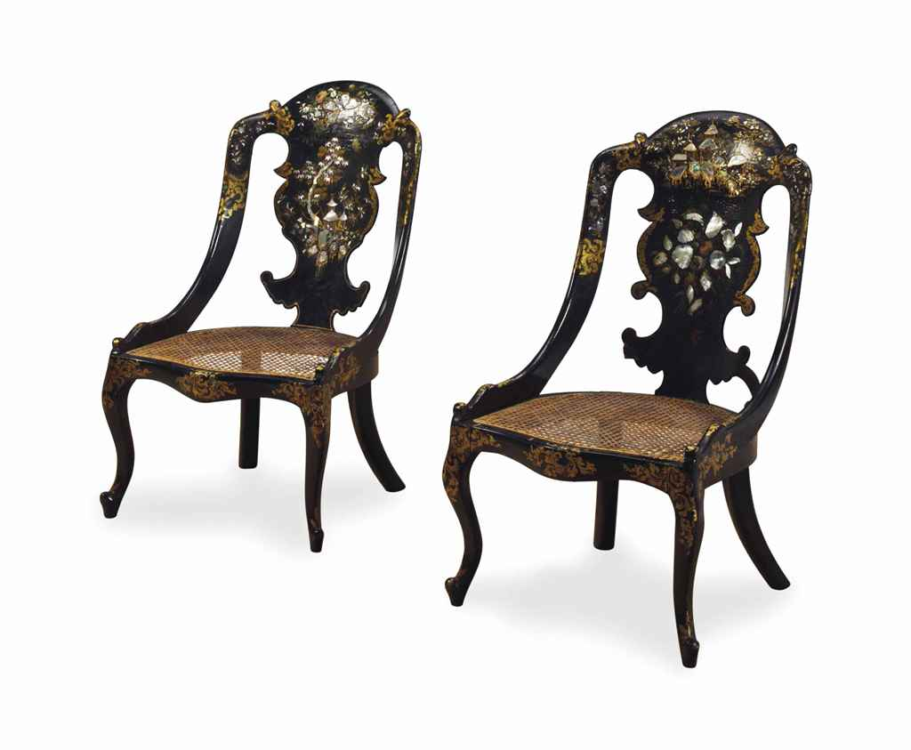 A PAIR OF VICTORIAN MOTHER OF