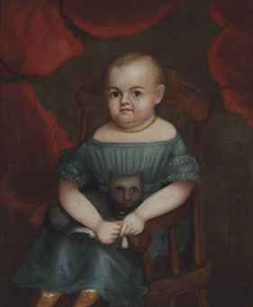 Portrait of a Child with Cat