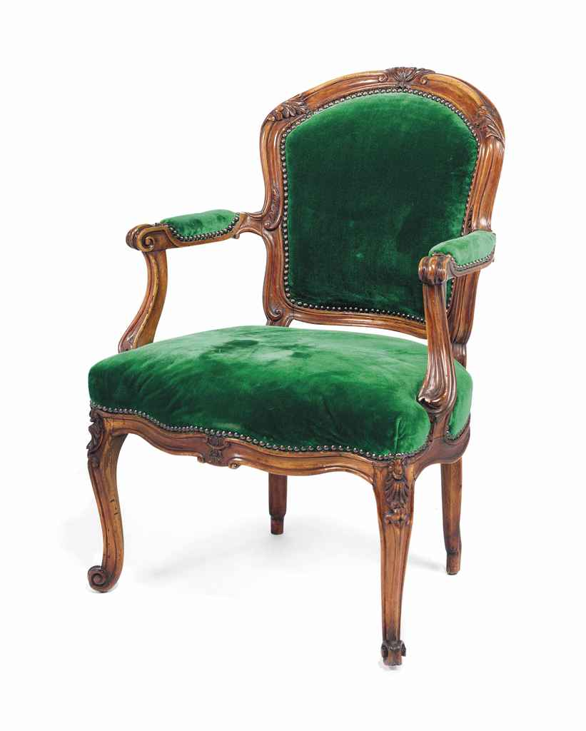 A French Walnut Fauteuil Of Louis Xv Style Late 19th Century Christie 39 S
