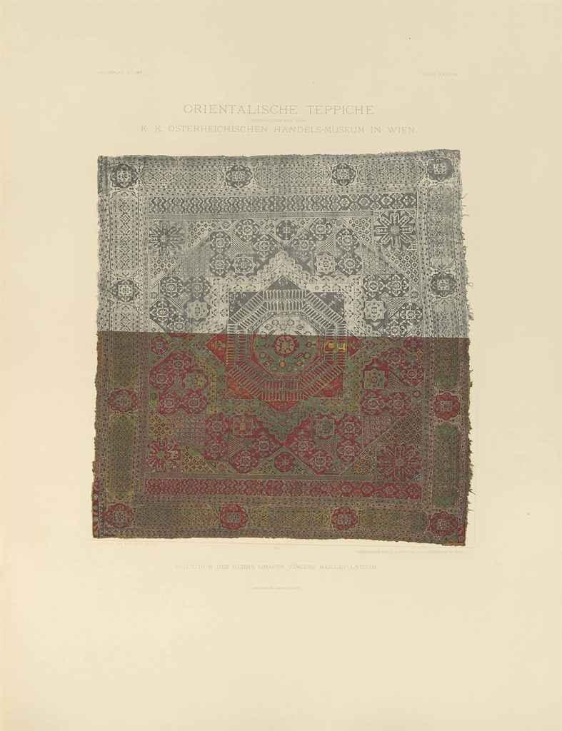 friedrich sarre orientalische teppiche vienna 1892 96 christie 39 s. Black Bedroom Furniture Sets. Home Design Ideas