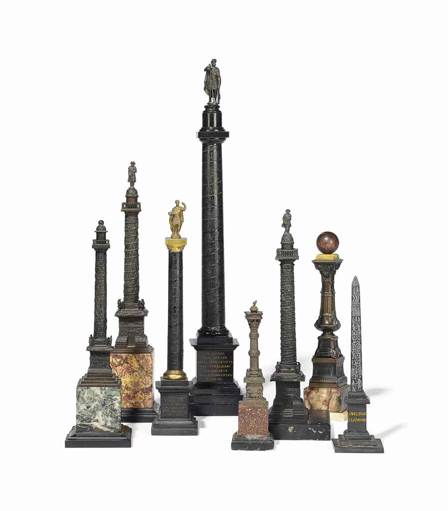 A COLLECTION OF EIGHT BRONZE AND MARBLE MODELS OF CLASSICAL ...