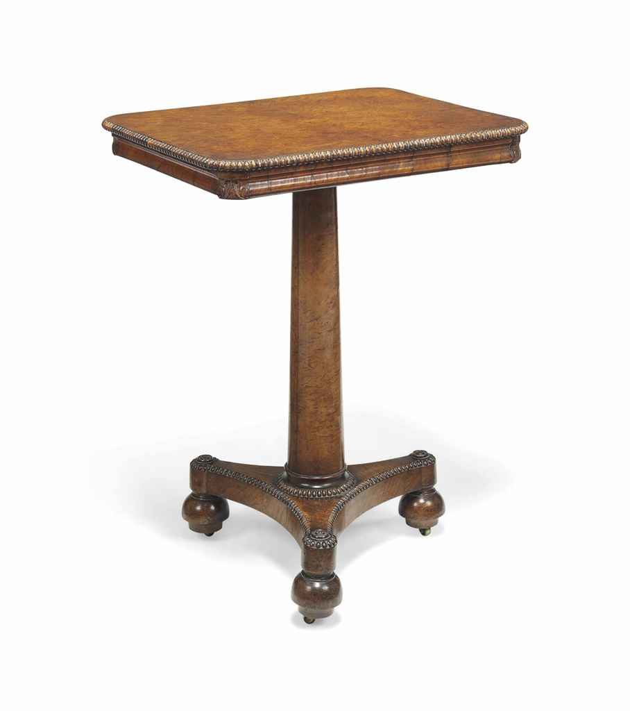 A GEORGE IV BURR-OAK OCCASIONAL TABLE