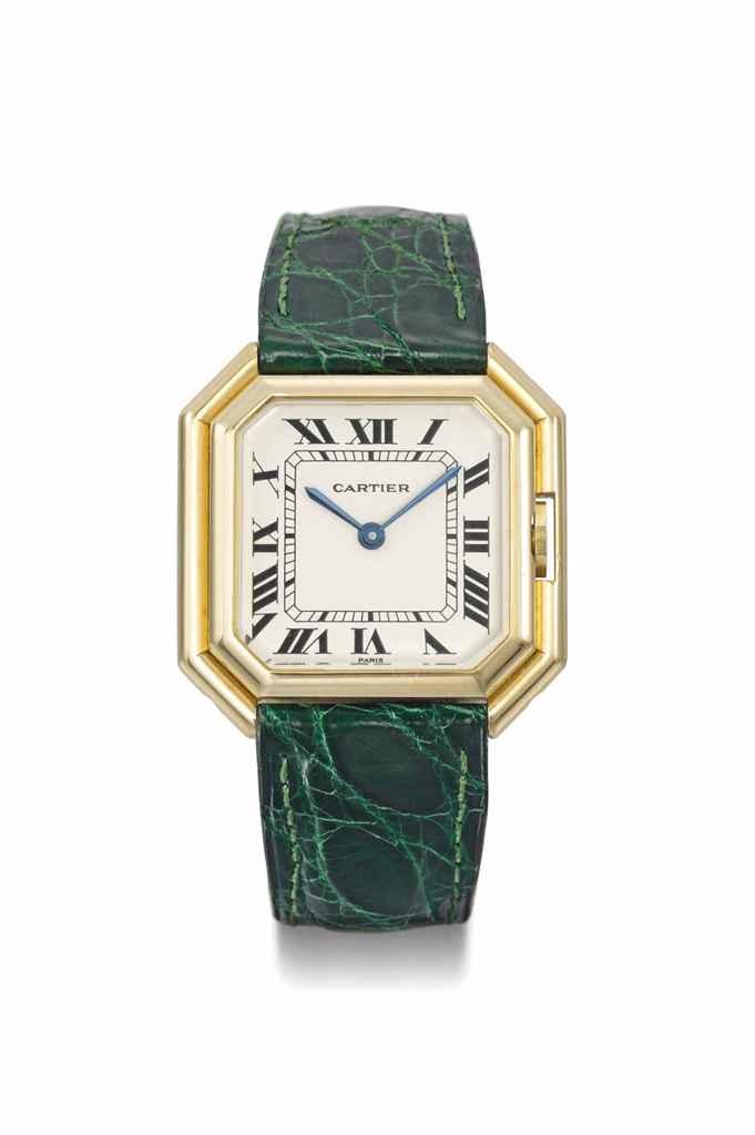 Cartier. A lady's 18K gold squ