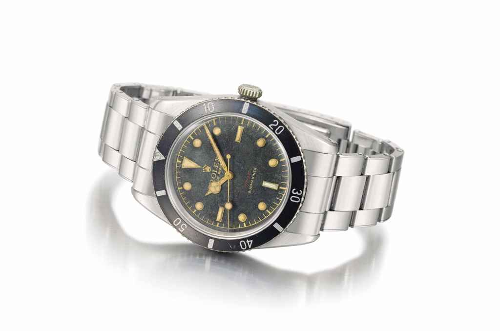 Rolex A very rare and early stainless steel automatic wristw...