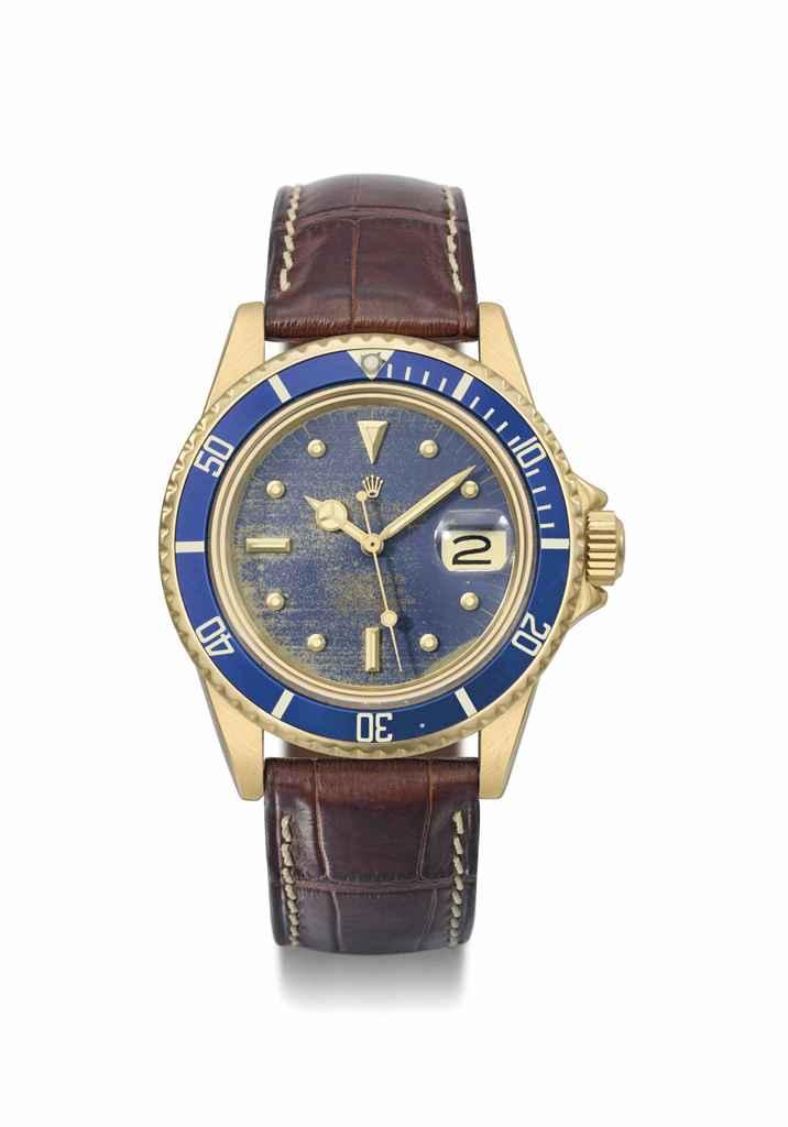 Rolex. An 18K gold automatic w