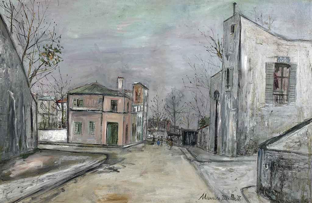 Maurice utrillo 1883 1955 carrefour de la rue des - Bureau de change rue montmartre ...