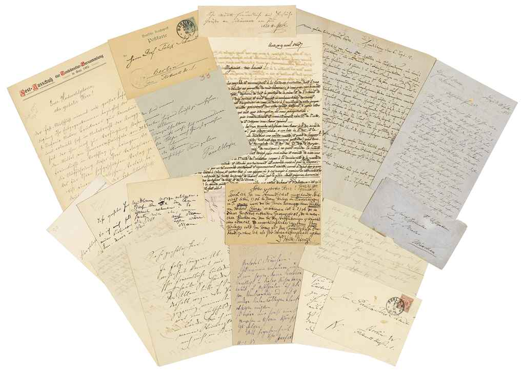 AUTOGRAPH COLLECTION -- MUSIC A collection of autograph lett...