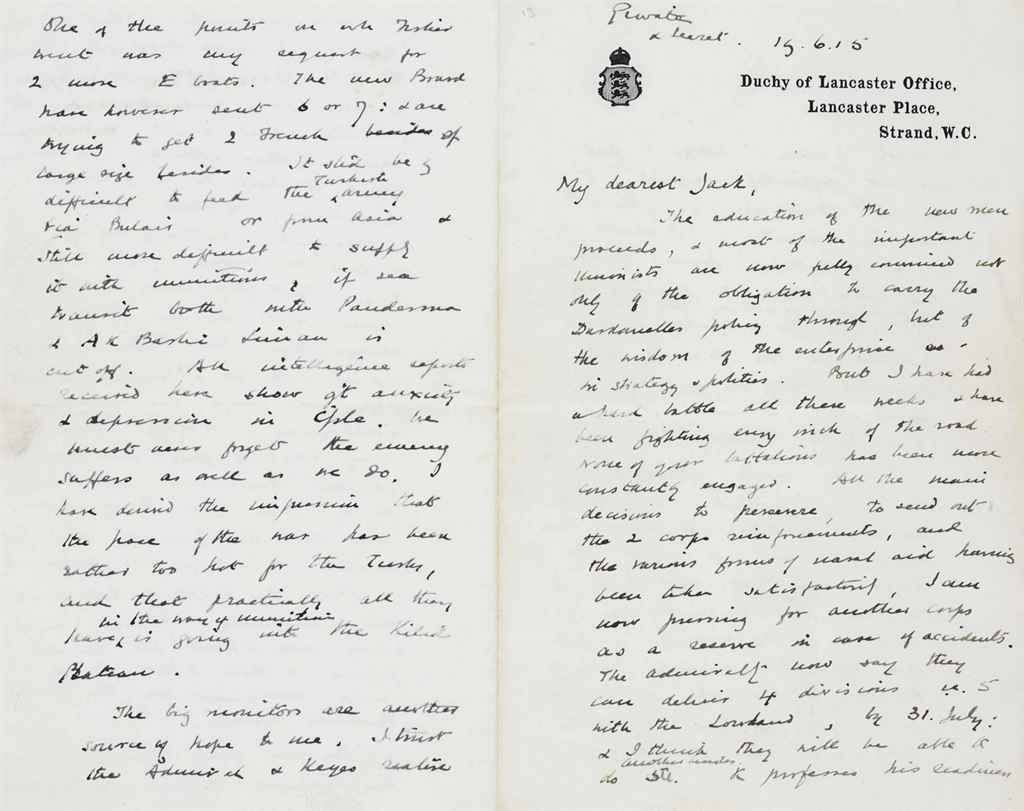 CHURCHILL, Winston S Autograph letter signed (