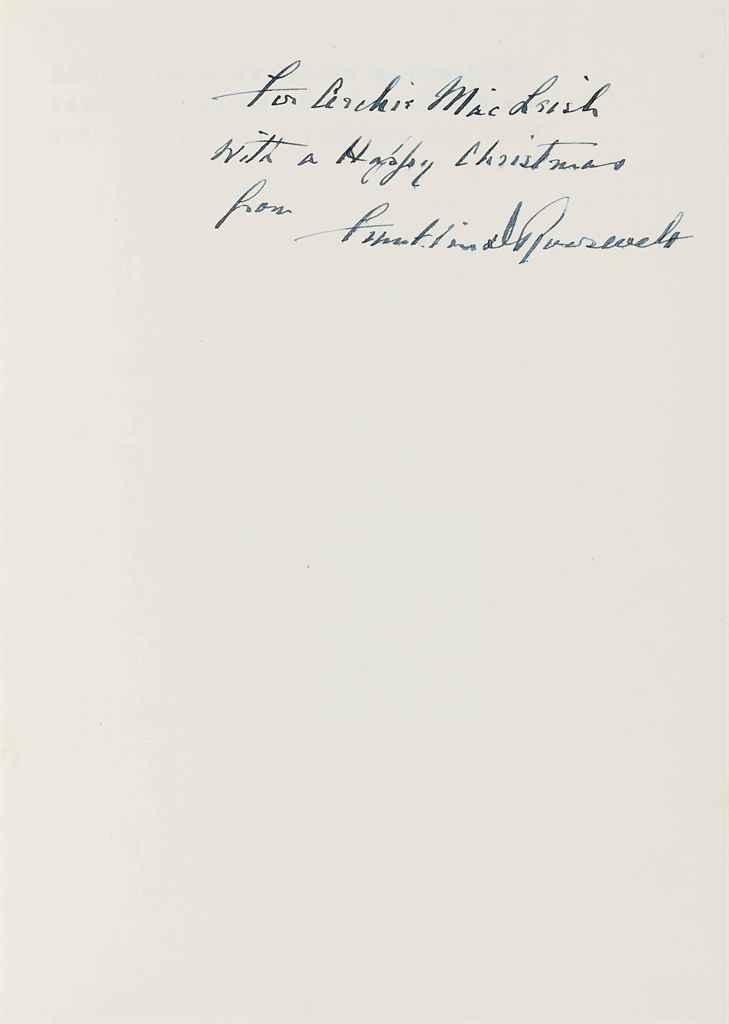 ROOSEVELT, Franklin D Addresses of Franklin D Roosevelt, Pre...