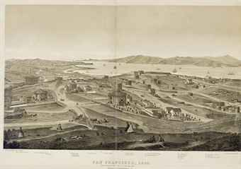 [SAN FRANCISCO]. GIFFORD, Charles B. (1830-1882?). Panoramic View of San Francisco. San Francisco: A. Rosenfield, 1862.