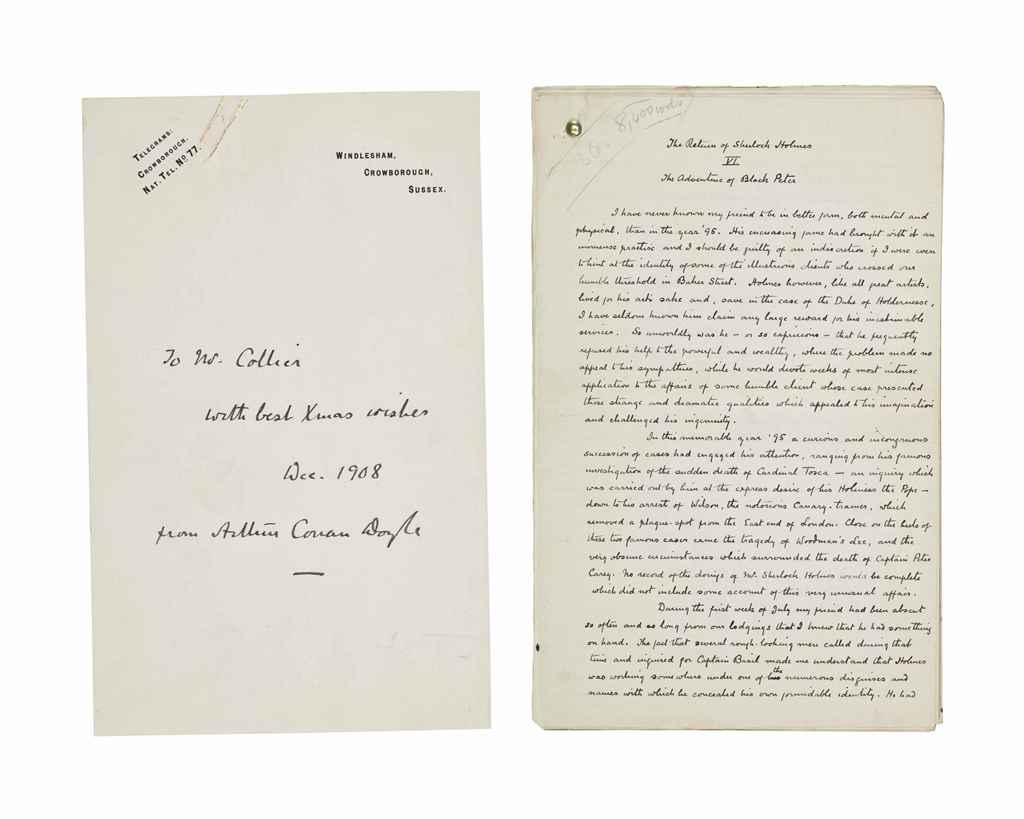 DOYLE, Arthur Conan. Autograph