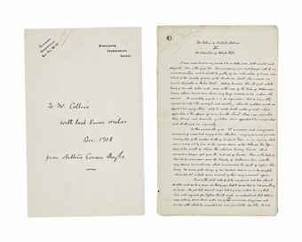 DOYLE, Arthur Conan. Autograph manuscript of the Sherlock Holmes story The Adventure of Black Peter, signed (A. Conan Doyle) and dated (Undershaw, July 26, 1903), published in Collier's 26 February 1904, and in The Strand Magazine, March 1904; and collected in The Return of  Sherlock Holmes, New York and London, 1905.