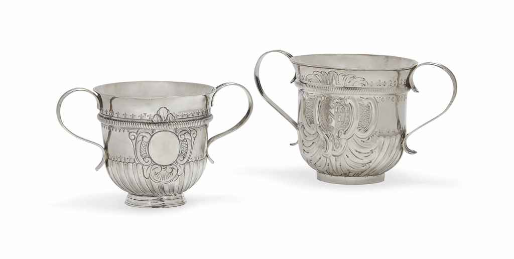 AN EARLY GEORGE III SILVER PORRINGER