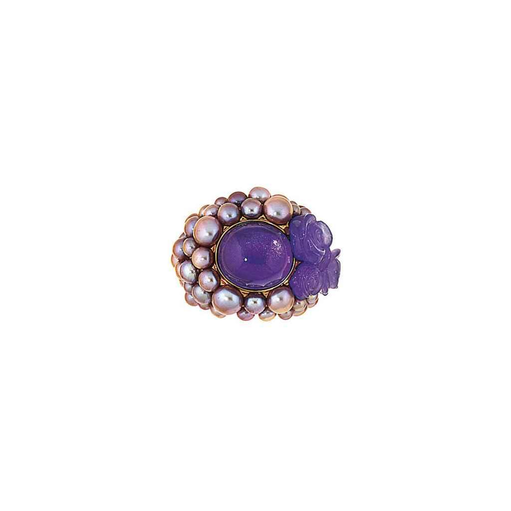 Two gem-set dress rings