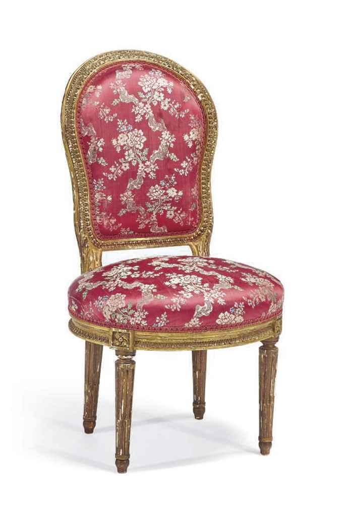 Chaise en cabriolet d 39 epoque louis xvi attribuee a - Chaise louis xvi pas cher ...