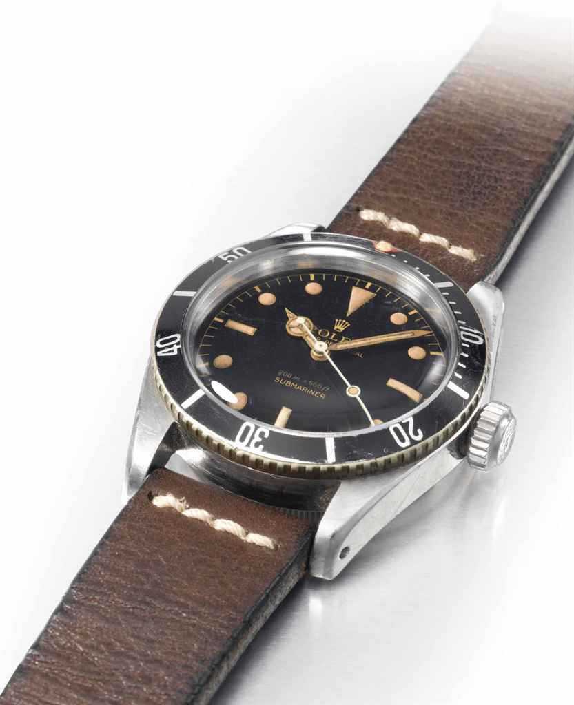 Rolex A very fine and extremely rare stainless steel automat...