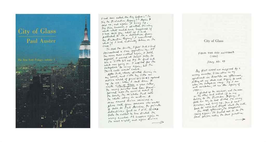 AUSTER, Paul (b. 1947). City o