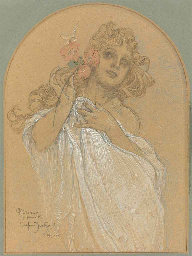 lot 19 alphonse marie mucha czech 1860 1939 allegory of spring price