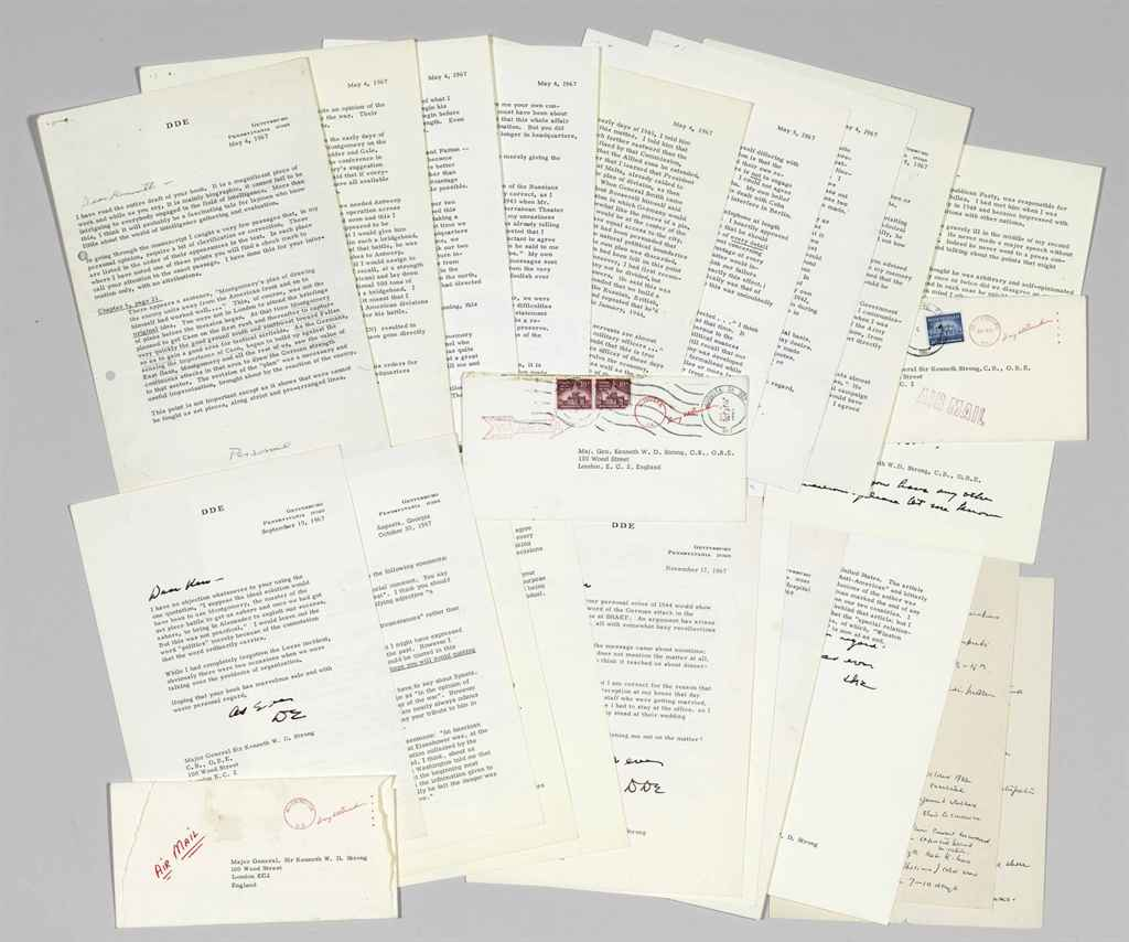 EISENHOWER, Dwight D Collection of six typed letters signed ...