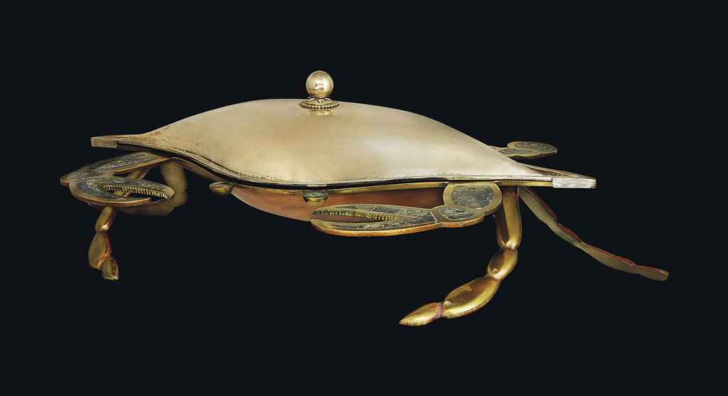 A LARGE MEXICAN SILVER AND ABALONE-INLAID CENTREPIECE