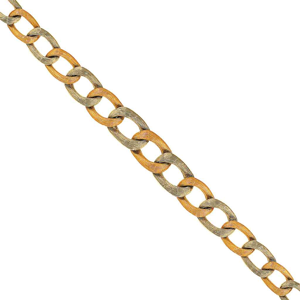 A fancy-link necklace and four bracelets