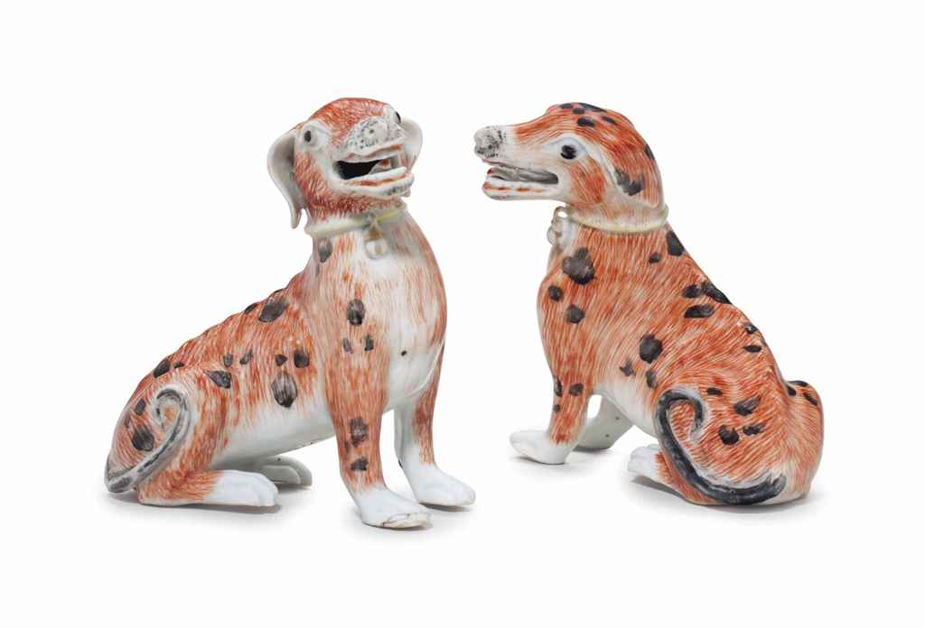 A PAIR OF SPOTTED HOUNDS