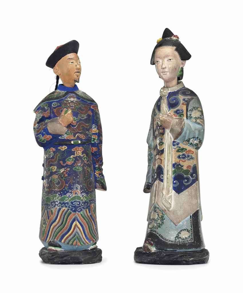 A PAIR OF CHINA TRADE PAINTED
