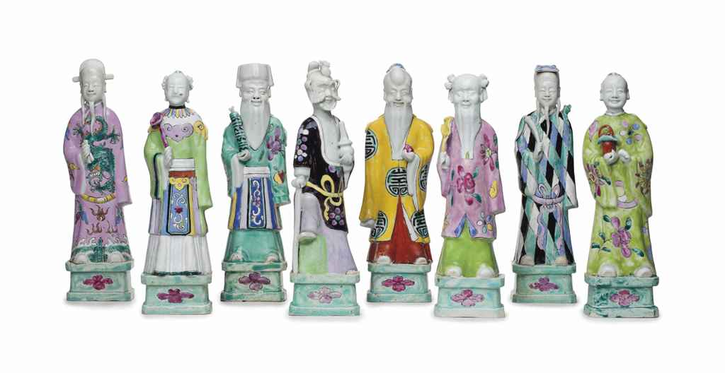 A SET OF THE EIGHT IMMORTALS