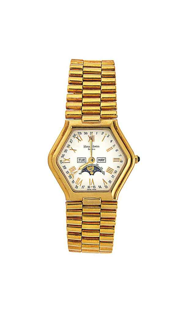 Four 18ct gold quartz wristwatches, by Royal Swiss for Jahan...