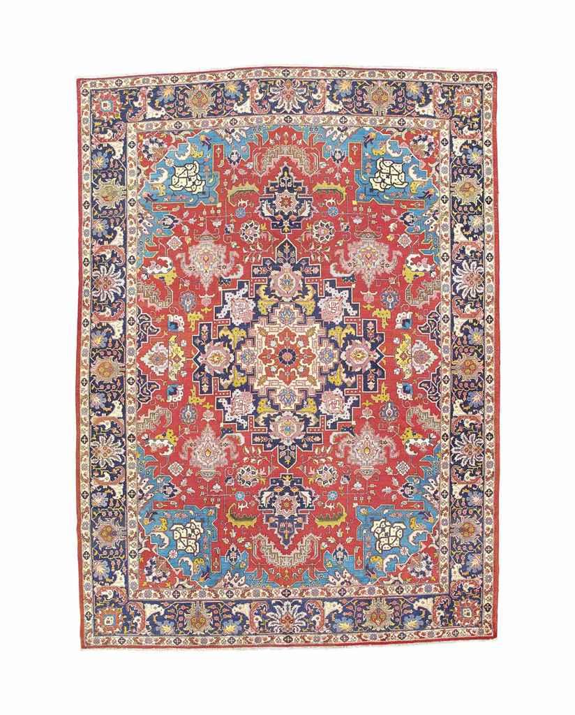 A n unusual Tabriz carpet