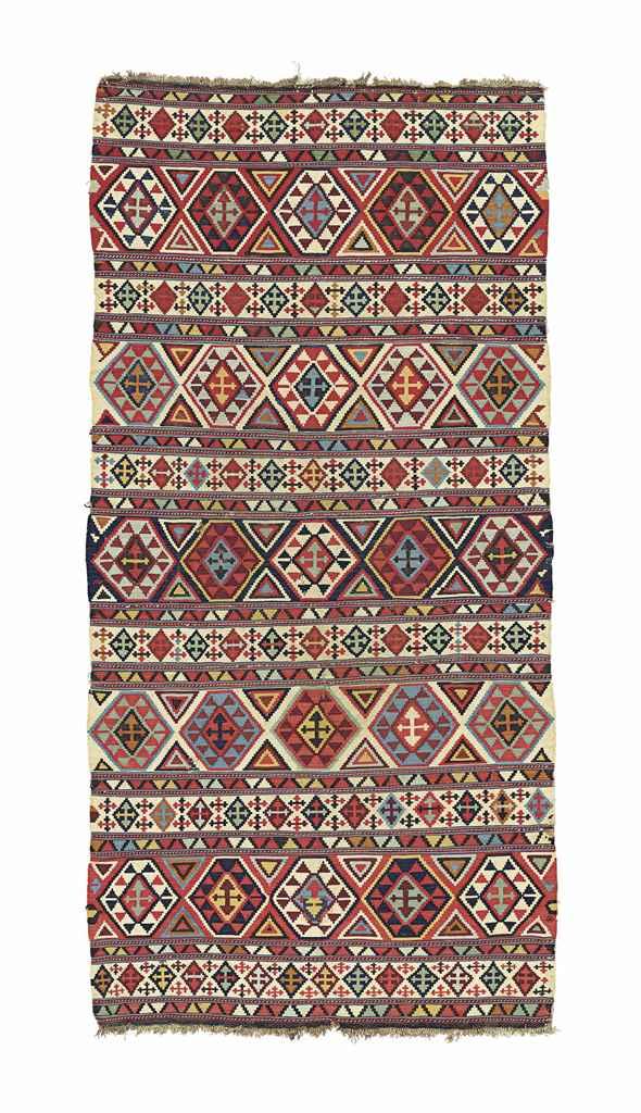 An antique Caucasian kilim