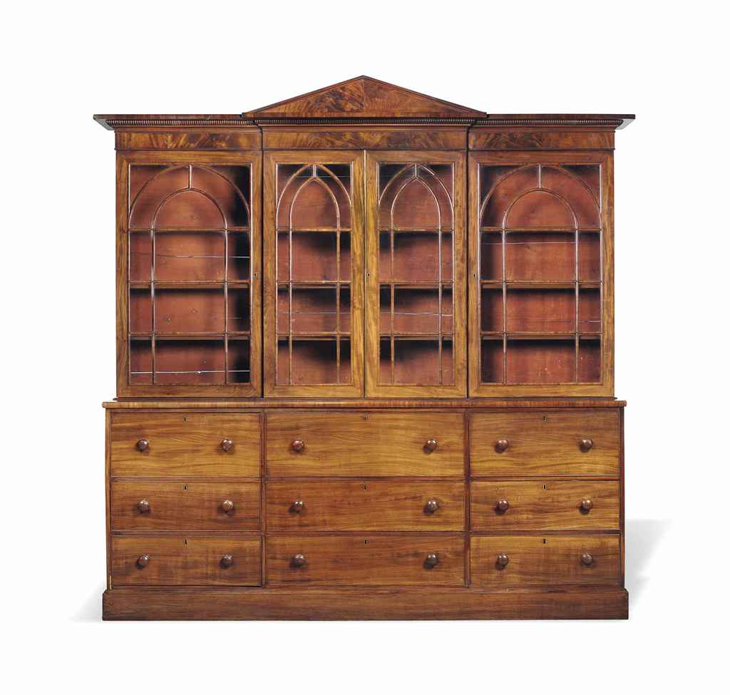A WILLIAM IV MAHOGANY SECRETAI