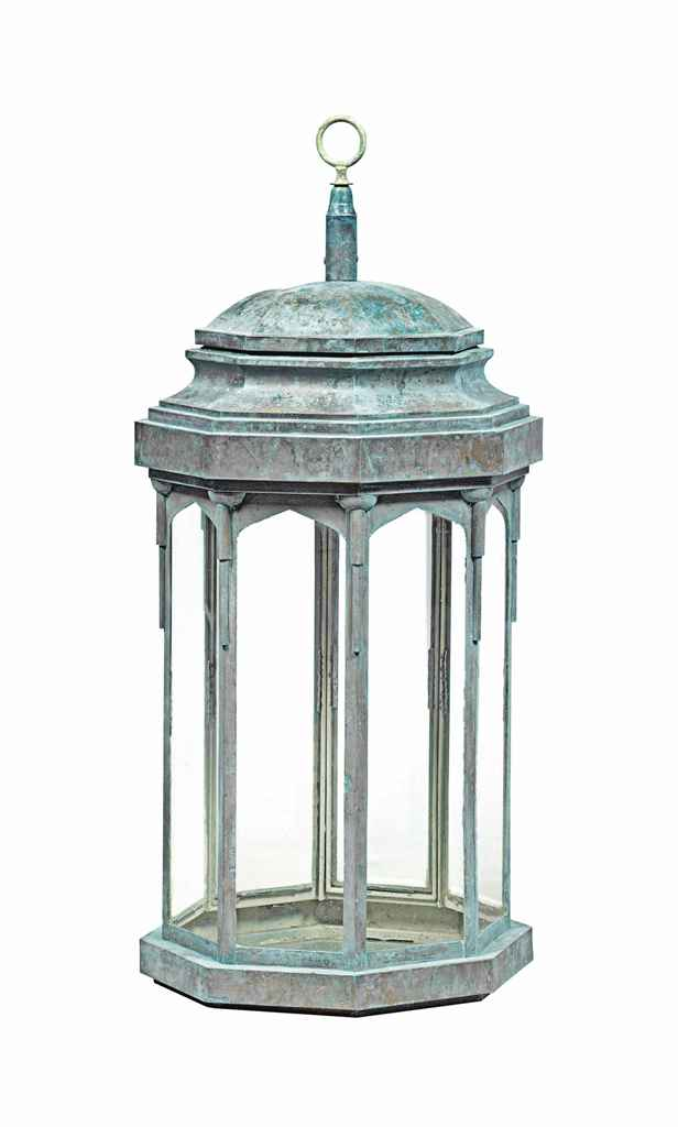 AN ART DECO STYLE COPPER OCTAG