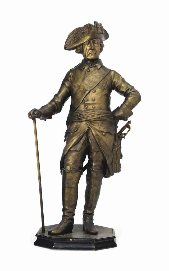 A CONTINENTAL SPELTER MODEL OF