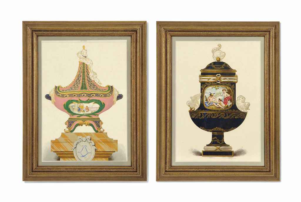 ELEVEN LITHOGRAPHS OF SEVRES P