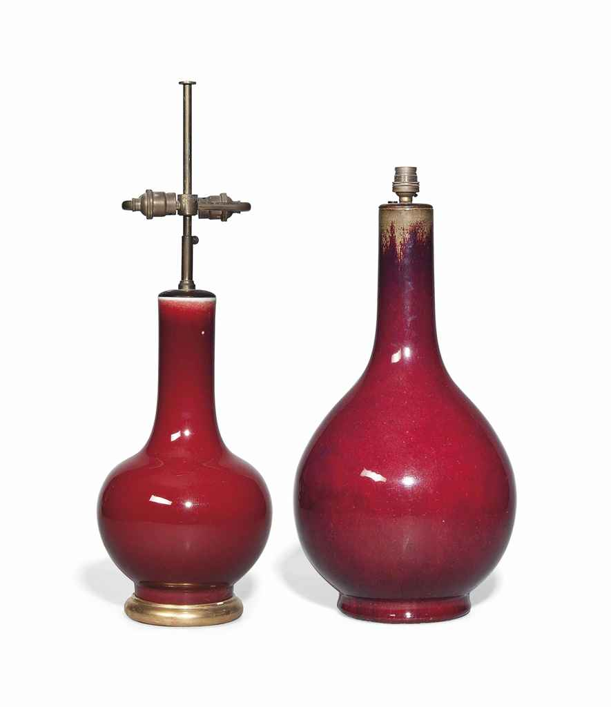 A CHINESE COPPER RED BOTTLE VA