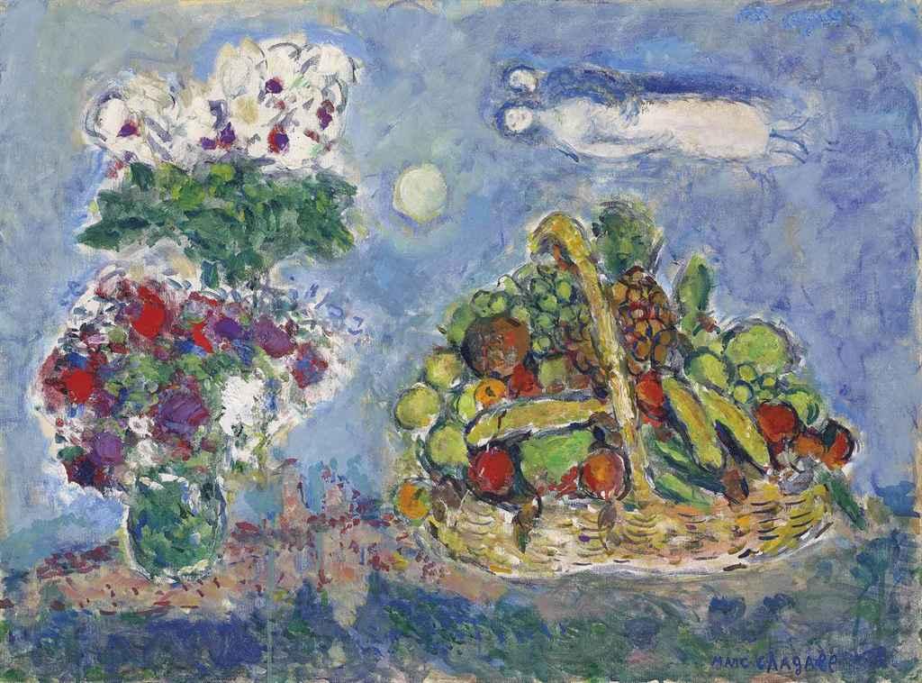 marc chagall 1887 1985 corbeille de fruits aux. Black Bedroom Furniture Sets. Home Design Ideas