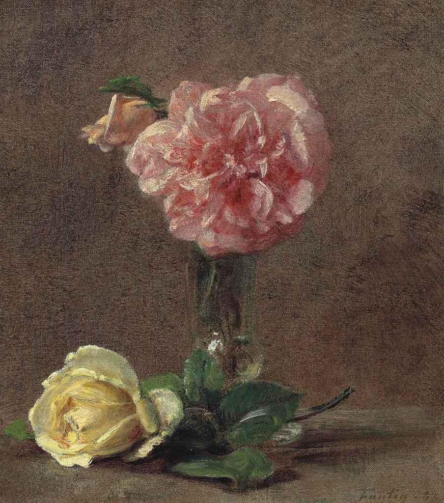 henri fantin latour 1836 1904 roses christie 39 s. Black Bedroom Furniture Sets. Home Design Ideas