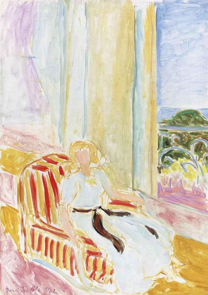 Henri matisse 1869 1954 jeune fille en robe blanche for Matisse fenetre