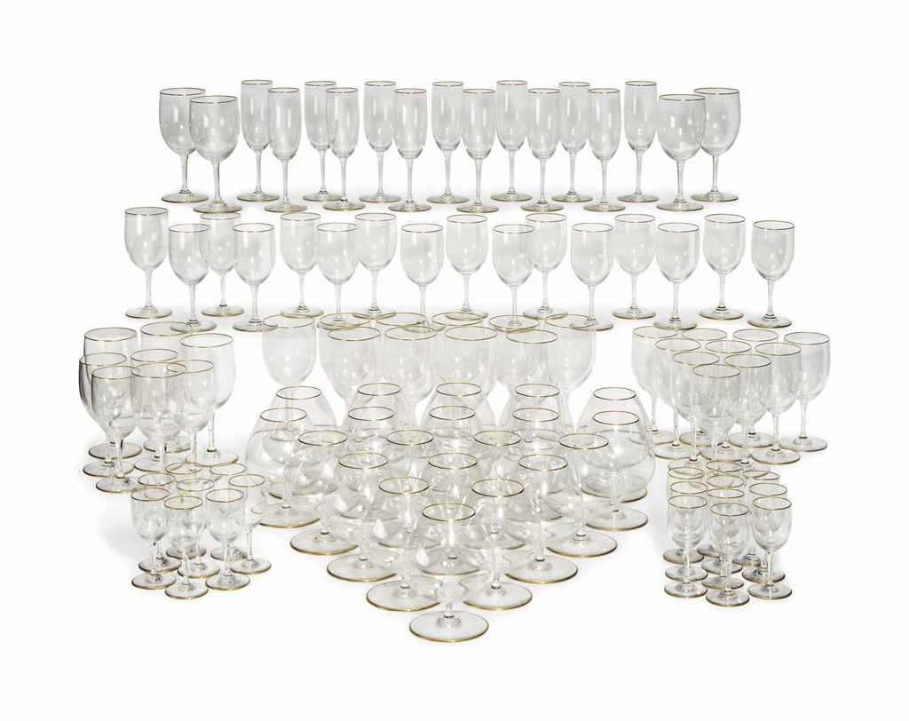 A BACCARAT PART SUITE OF GLASS