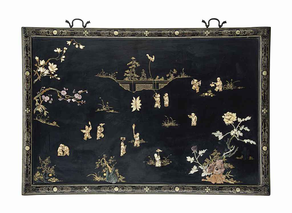 A CHINESE EXPORT LACQUER AND B