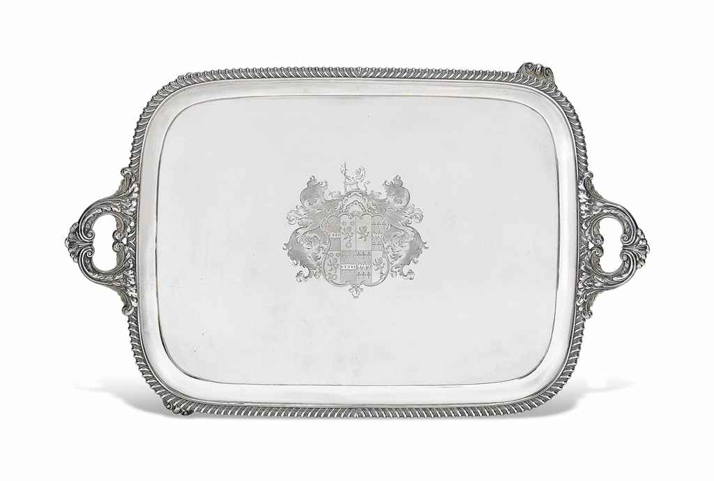 A GEORGE IV SILVER TWO-HANDLED