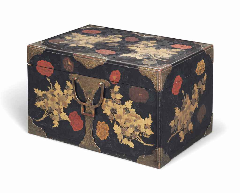 A JAPANESE BRASSBOUND GILT AND