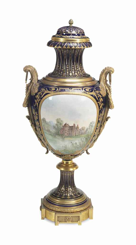 A GILT-BRONZE MOUNTED SEVRES-S