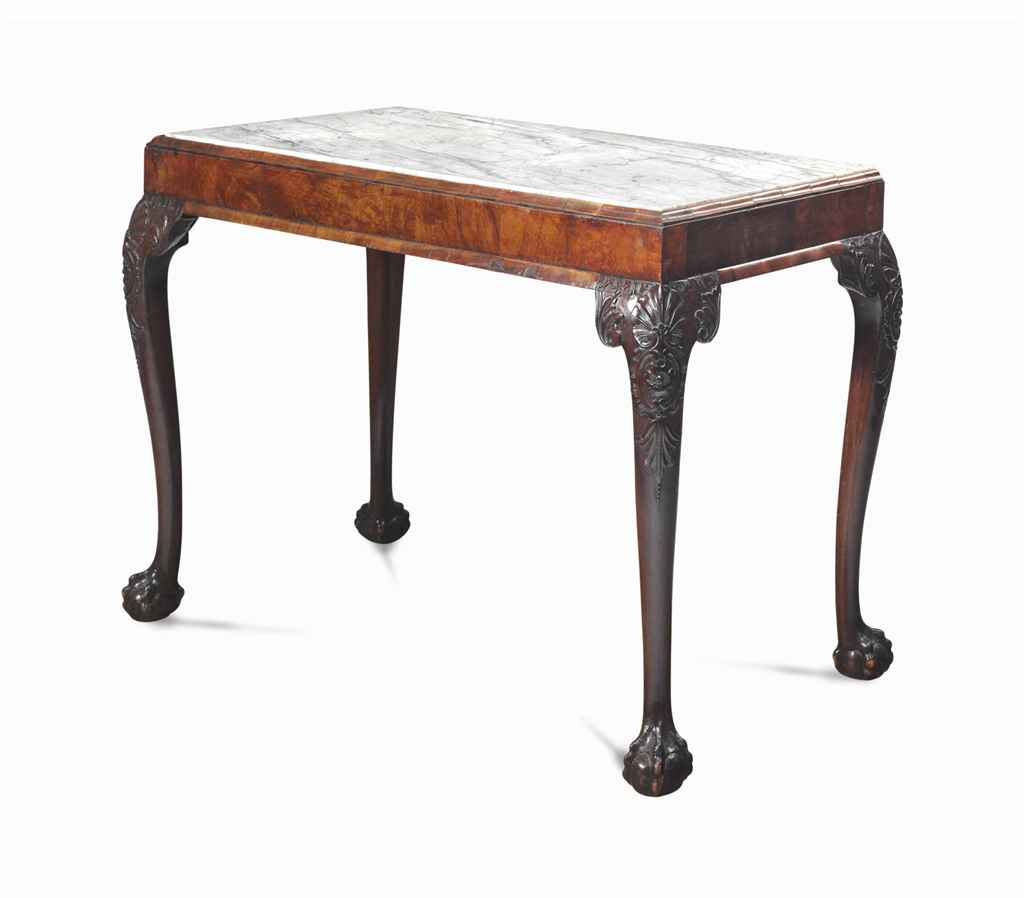 A GEORGE II STYLE MAHOGANY AND